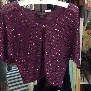 Sweaters - Sparkle purple shrug